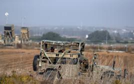 """כוח צה""""ל סמוך לגבול רצועת עזה"""