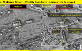 תמונות הלוויין של התקיפה בדמשק