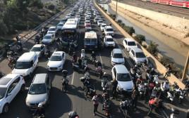 מחאת האופנוענים בנתיבי איילון