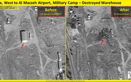 צילומים מתוך תקיפה בסוריה
