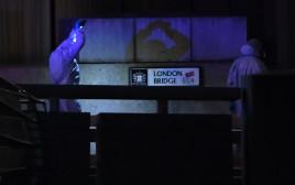 זירת פיגוע הדקירה בגשר לונדון