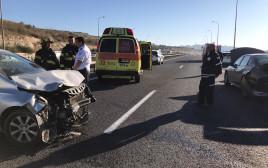 זירת התאונה בכביש 79