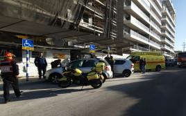 תאונה באתר בנייה באשדוד