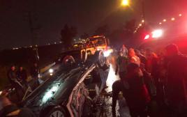 תאונת דרכים סמוך למחלף אייל