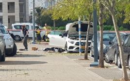 רכב המרצדס שפוצץ בגבעת שמואל
