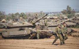 טנקים ליד גבול עזה