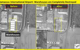 תמונת לווין של התקיפה בסוריה
