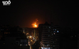 זירת התקיפה בסוריה