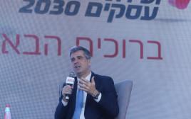 השר אלי כהן בוועידת העסקים של מעריב