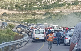 תאונת דרכים בשומרון, סמוך לריחן