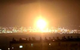 פטרית אש במפעל בזן בחיפה