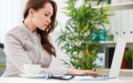 אישה בעבודה, אילוסטרציה