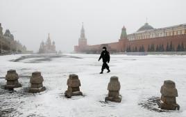 בצל הקורונה - הכיכר האדומה במוסקבה ריקה
