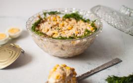 סלט שימורים ואורז