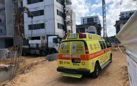 פועל נהרג באתר בנייה באור עקיבא