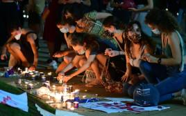ההפגנה נגד רצח נשים