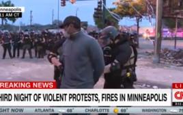 כתב CNN נעצר במהלך סיקור המחאות במיניאפוליס
