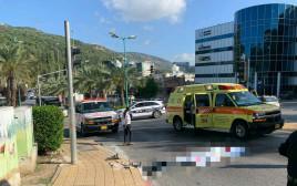 זירת התאונה ביקנעם עילית