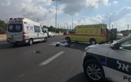 זירת התאונה סמוך למחלף מורשה