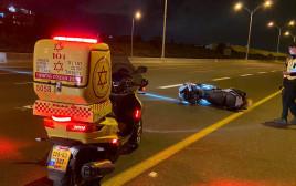תאונת אופנוע סמוך לפתח תקווה