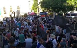 מפגינים מול מעון ראש הממשלה
