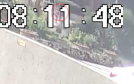 מתוך מצלמת האבטחה - תאונת הדרכים הקטלנית בנתניה