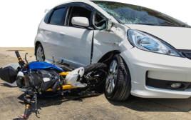 אופנוע לאחר תאונה