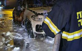 הצתת רכבו של ראש עיריית קלנסווה