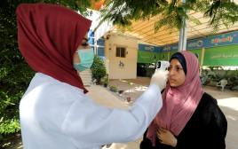 בדיקות חום לאיתור קורונה ברצועת עזה