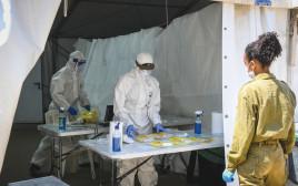 מעבדה צבאית לבדיקות קורונה, ארכיון (למצולמים אין קשר לנאמר בכתבה)
