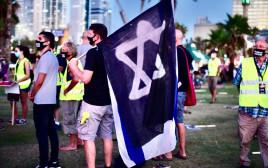 מחאת הקורונה: נערכים להפגנה בגן צ'ארלס קלור בתל אביב