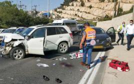 תאונת דרכים בשדרות גולדה מאיר בירושלים