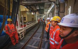 עבודת תשתית ברכבת הקלה