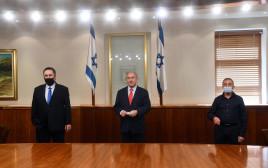"""בנימין נתניהו, ישראל כ""""ץ, מאיר שפיגלר"""