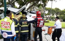 זירת התאונה ברמת אפעל