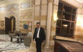הרס בלשכת ראש הממשלה בלבנון