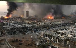 הרס בלבנון בעקבות הפיצוצים