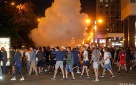 תומכי אופוזיציה מתעמתים עם משטרת בלארוס במינסק