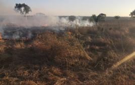 בלוני תבערה: שריפה בבארי