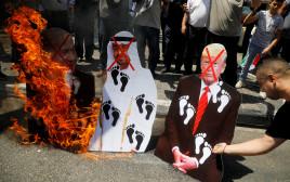 הפגנות נגד ההסכם בין ישראל לאיחוד האמירויות דונלד טראמפ מוחמד בן זאיד