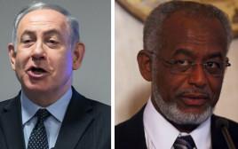 בנימין נתניהו ועלי קרטי - שר החוץ הסודני