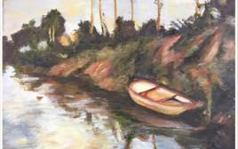סירה שעונה על גדה