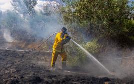 שריפות בעוטף עזה כתוצאה מהפרחת בלוני תבערה