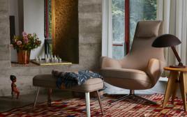 """1.כורסת grand repos של VITRA בעיצוב אנטוניו צ'יטריו להביטאט. צילום: יח""""צ"""