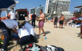פינוי הטובע בחוף אכדיה