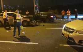 זירת התאונה בצומת יגור