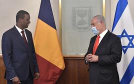 ראש הממשלה בנימין נתניהו וראש הקבינט של צ'אד