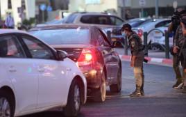 סגר לילי קורונה עוצר בני ברק שוטרים