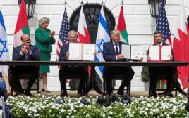 חתימת הסכם השלום בוושינגטון