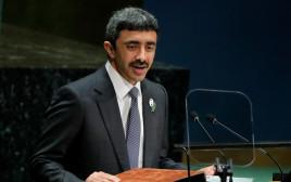שר החוץ של איחוד האמירויות - עבדאללה בן זאיד